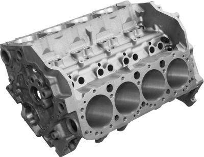 A V8 engine block.
