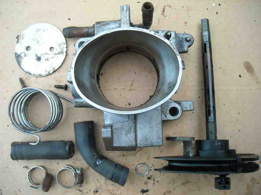 A Throttle Body Taken Apart