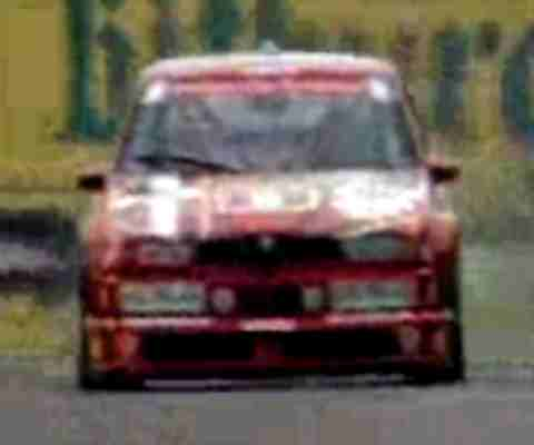 The front of the 155 Alfa Romeo Touring Car