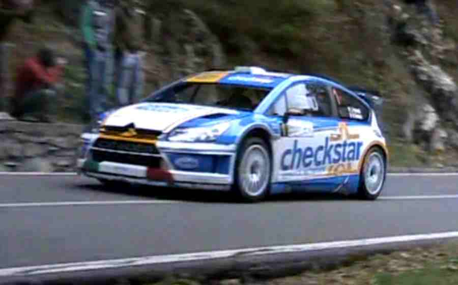 An independent Citroën C4 Rally Car sponsored by CheckStar