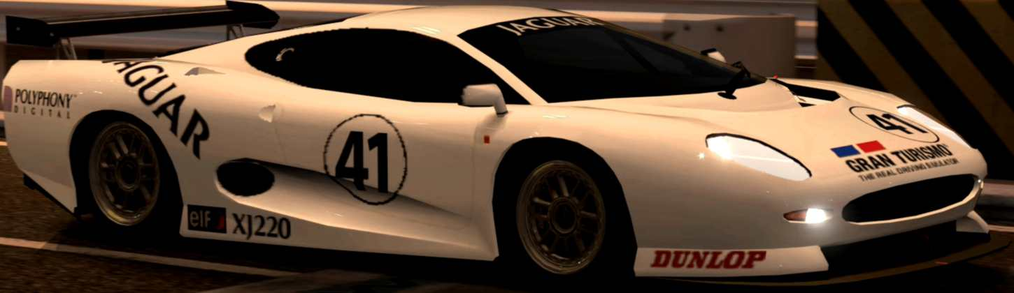 White Jaguar XJ220 LM Race Car