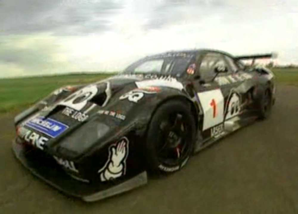 The black #1 Lister Storm sponsored by Michelin Tires