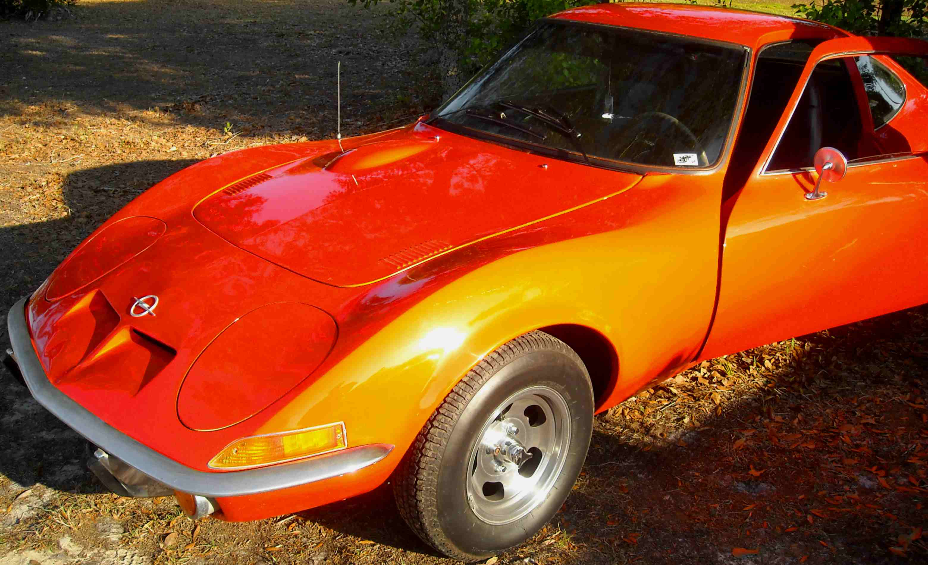 A Pearl Orange Metallic Opel GT