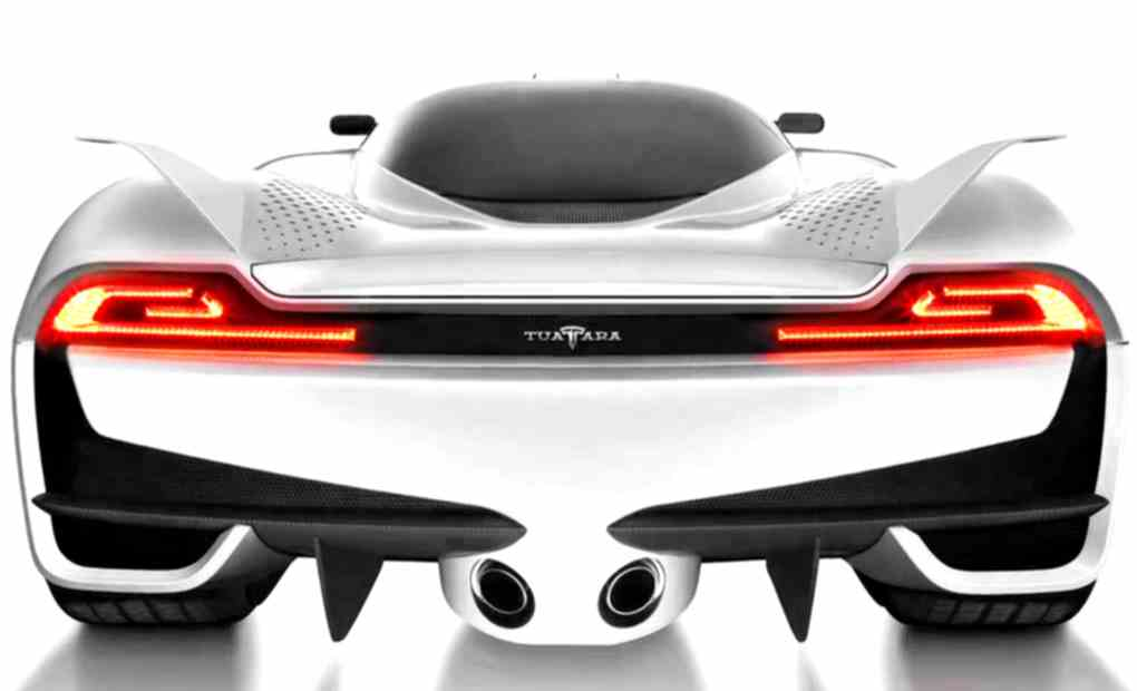 The back of the Shelby SuperCars Tuatara