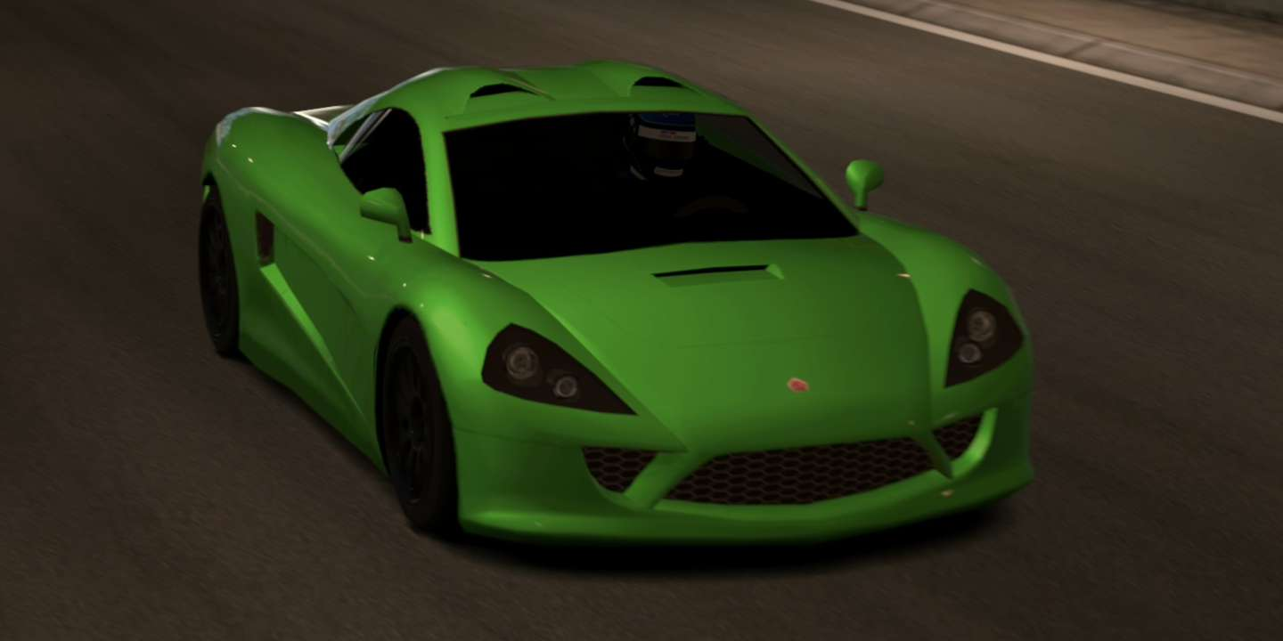 A fictional Tommy Kaira ZZII from the game Gran Turismo 5