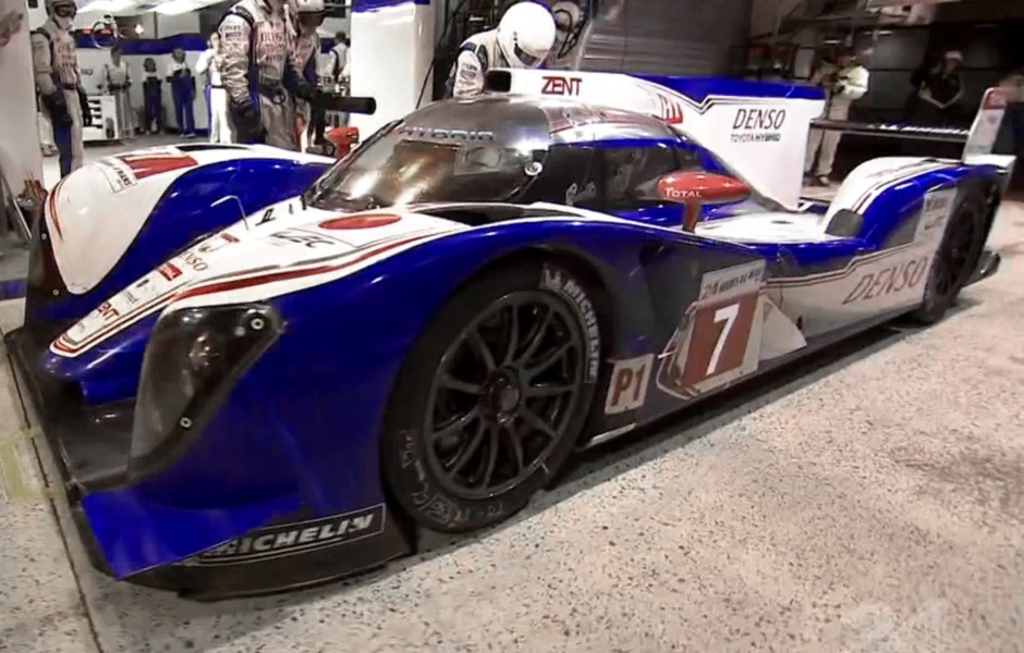 The 2012 Toyota Hybrid TS030 Le Mans Race Car