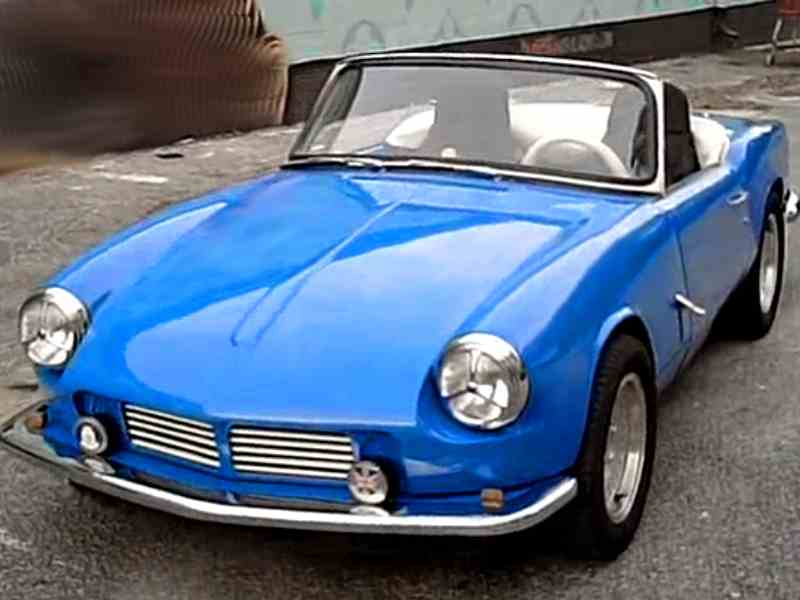 A light blue MK2 1967 Triumph Spitfire